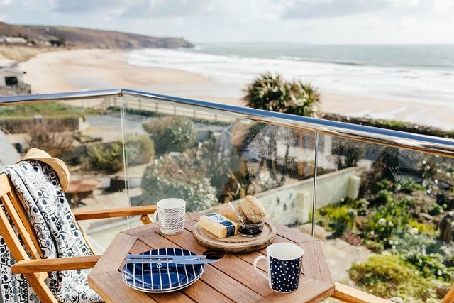 Fabulous holiday home right above the beach at Praa sands where Kernow Coasteering operates