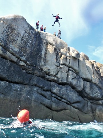 Best water sports activity on Scilly. Activity for families at Peninnis Head on St. Mary's with Kernow Coasteering. The best adv