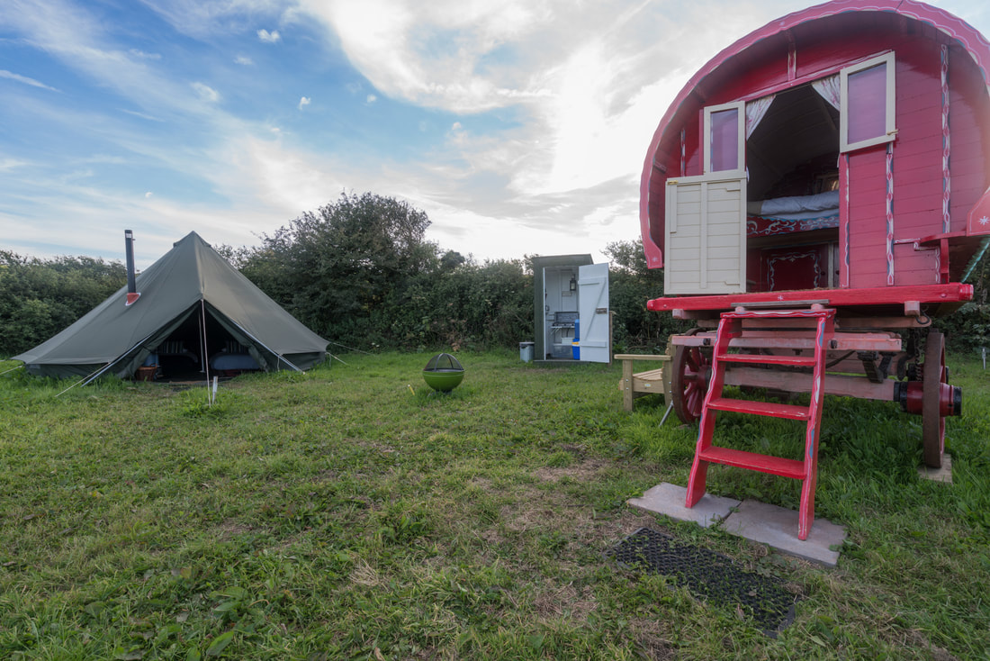 Gypsy Caravan at Boswarthen Farm Glamping, Penzance, Cornwall
