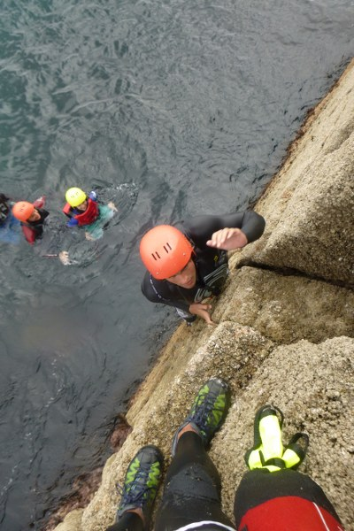 Coasteering at Peninnis Head, the best thing to do on the Isles of Scilly