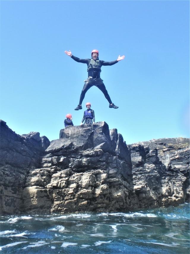 The best Coasteering in Cornwall is with Kernow COASTEERING at Praa Sands