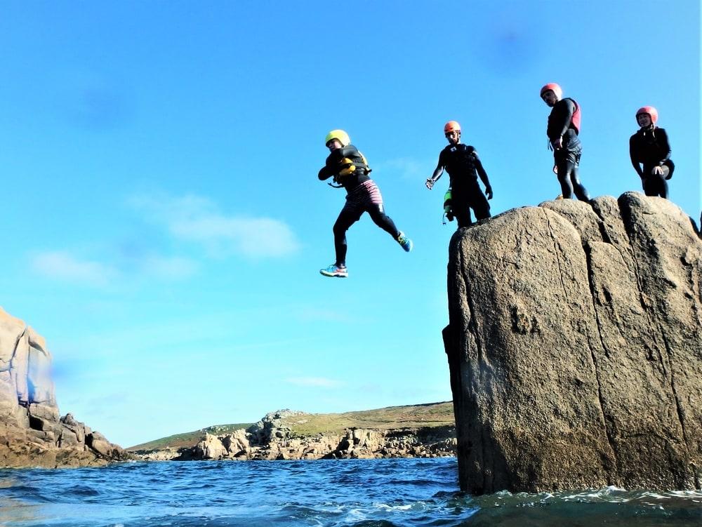 ISles of Scilly and Cornwall Coasteering. Coasteering St.Mary's, Coasteering St. ives, Penzance, Porthleven and Coasteering Newq