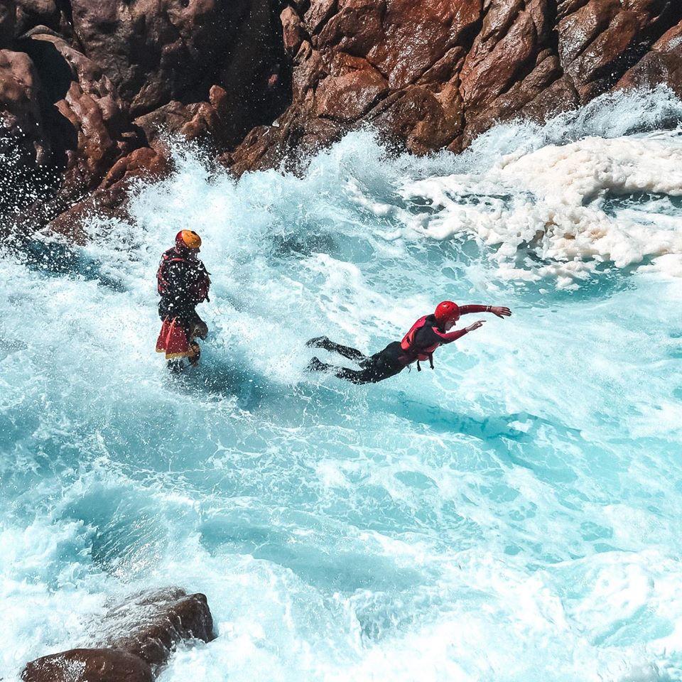 Rough sea coasteering with Margaret River Adventure Co