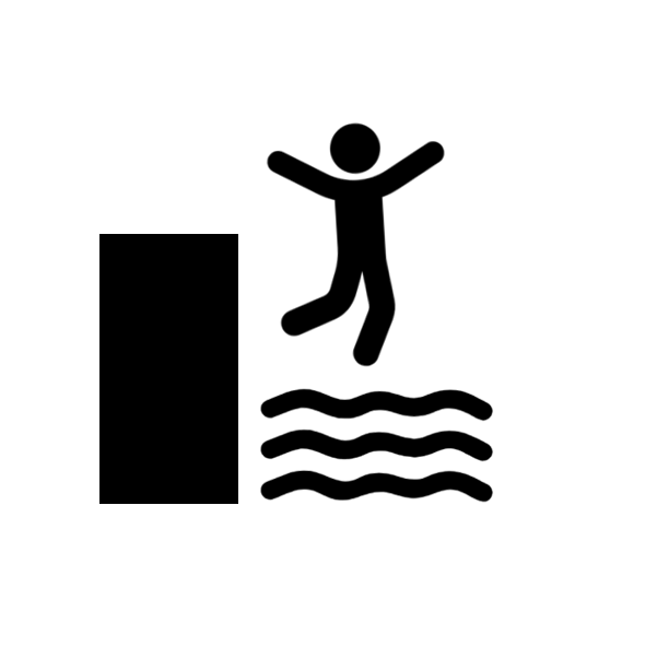 Cliff jumping icon