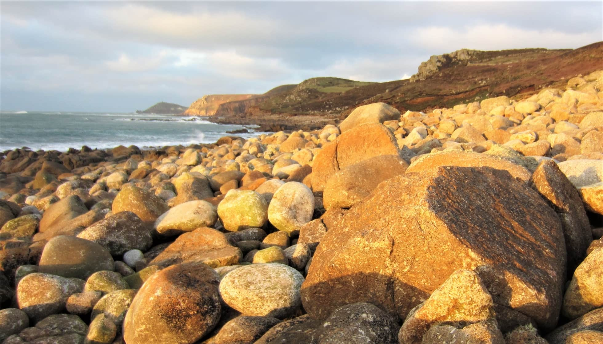 Miles of granite boulder beach between Cape Cornwall and Sennen were not included in Project Penwith