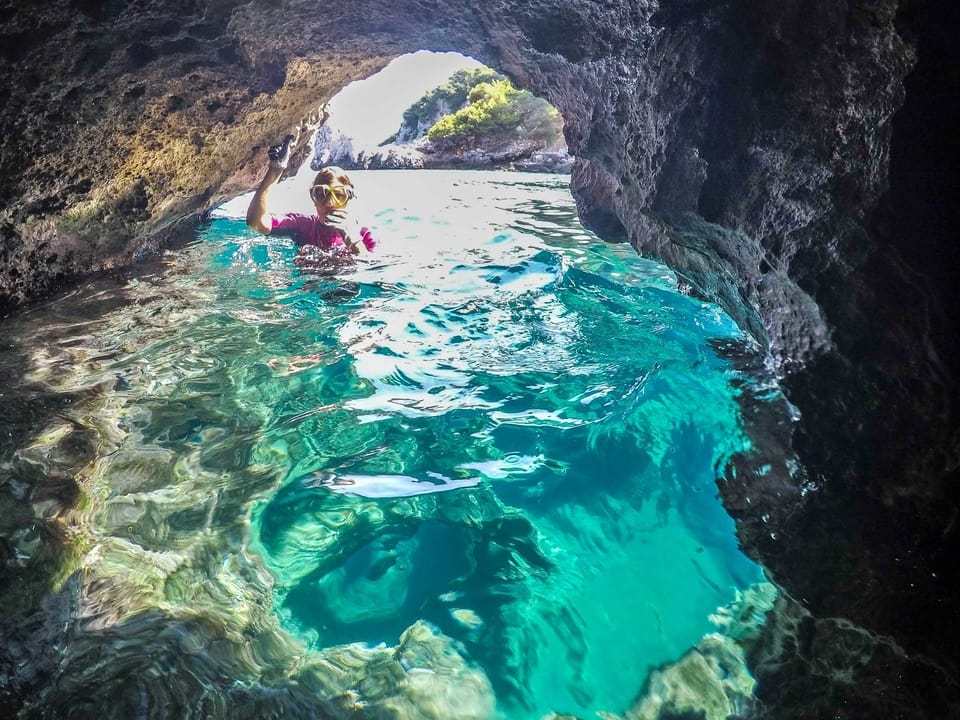 Clear blue waters snorkelling and coasteering in Mallorca