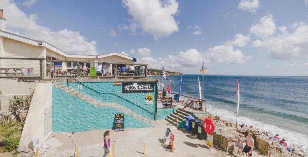 Kernow Coasteering recommends the Sandbar restaurant after your coasteering at Praa Sands