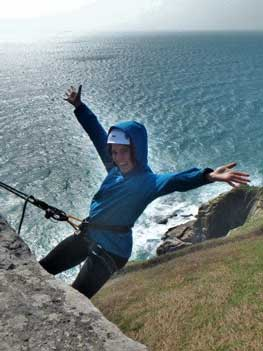 Learn abseiling and rock climbing skills in Cornwall with Kernow Coasteering rock climbing courses on the Cornish cliffs.