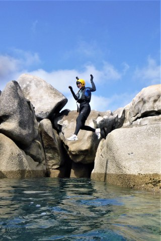 Coasteering at Peninnis Head on St. Mary's is the Isles of Scilly's best adventure experience.