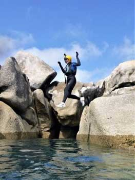 Coasteering on the Isles of Scilly's at Peninnis Head on St. Mary's is the best adventure experience.