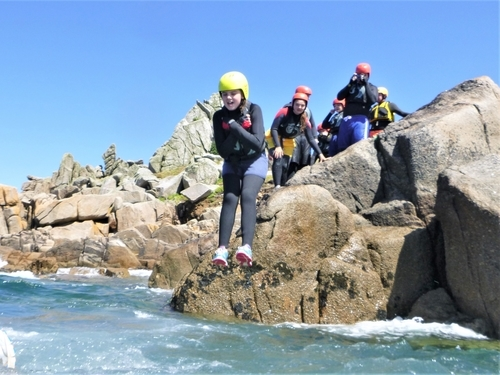 Best activity on Scilly is coasteering. Windsurfing, SUP and snorkelling cannot beat coasteering with Kernow Coasteering.