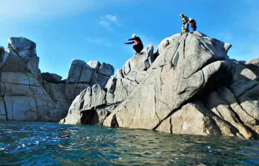 More cliff jumping at Peninnis Head, Coasteering on the Isles Of Scilly