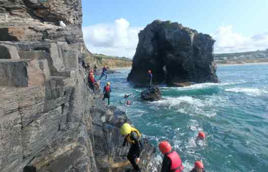 Group at Praa Sands coasteering