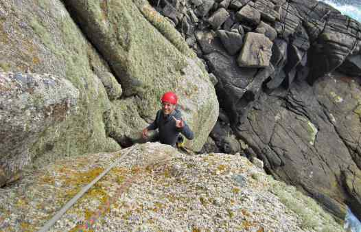 Rock climbing on Cornwall with Kernow Coasteering